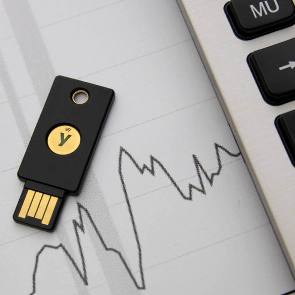 Yubico Χρηματοοικονομικές Υπηρεσίες κλειδιά ασφαλείας